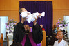 Baby blessing at the Sunday Morning installation service
