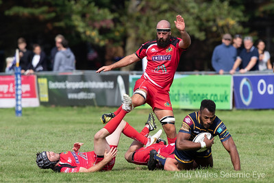 Kiba Richards tacked to the ground v Redruth