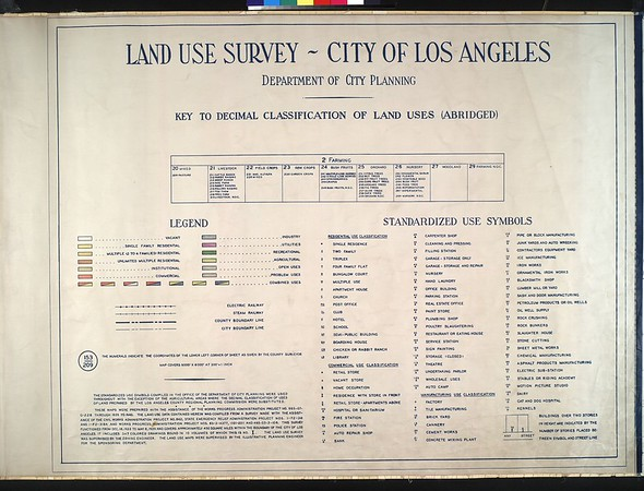 WPA Land use survey map for the City of Los Angeles, book 1 (North Los Angeles District), sheet 1