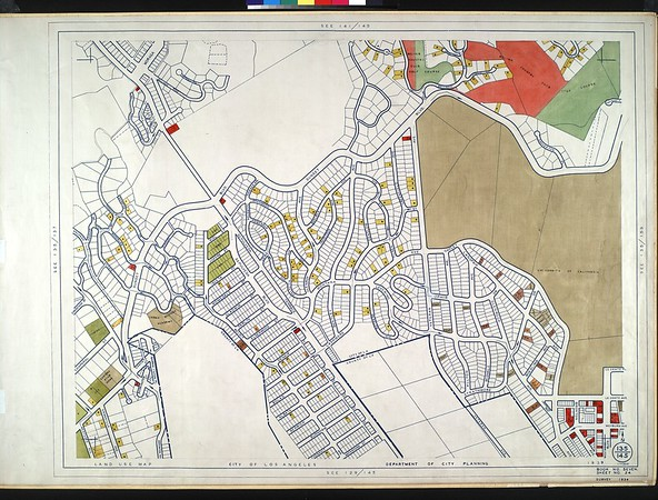 WPA Land use survey map for the City of Los Angeles, book 7 (Topanga Canyon to Hollywood District), sheet 24
