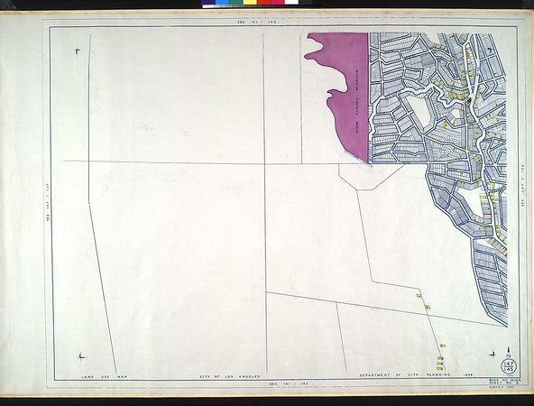 WPA Land use survey map for the City of Los Angeles, book 7 (Topanga Canyon to Hollywood District), sheet 6
