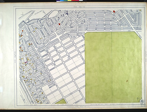 WPA Land use survey map for the City of Los Angeles, book 9 (Pacific Palisades Area to Mines Field (Municipal Airport)), sheet 29