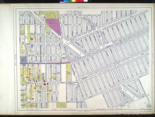 WPA Land use survey map for the City of Los Angeles, book 4 (Van Nuys District to Garvanza District), sheet 11