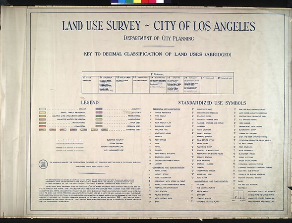 WPA Land use survey map for the City of Los Angeles, book 3 (San Fernando Valley from Canoga Park District to Van Nuys District), sheet 20