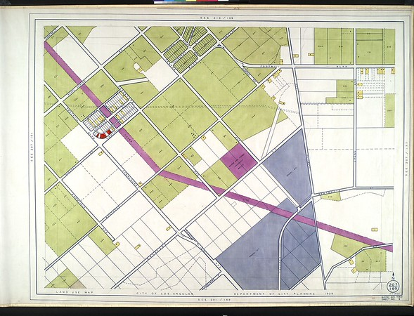 WPA Land use survey map for the City of Los Angeles, book 2 (Tujunga), sheet 9