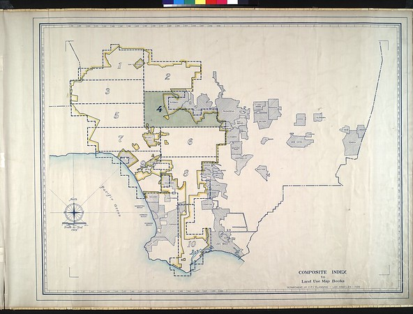 WPA Land use survey map for the City of Los Angeles, book 4 (Van Nuys District to Garvanza District), sheet 10