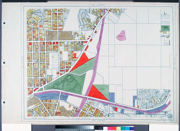 WPA Land use survey map for the City of Los Angeles, book 6 (Hollywood District to Boyle Heights District), sheet 23