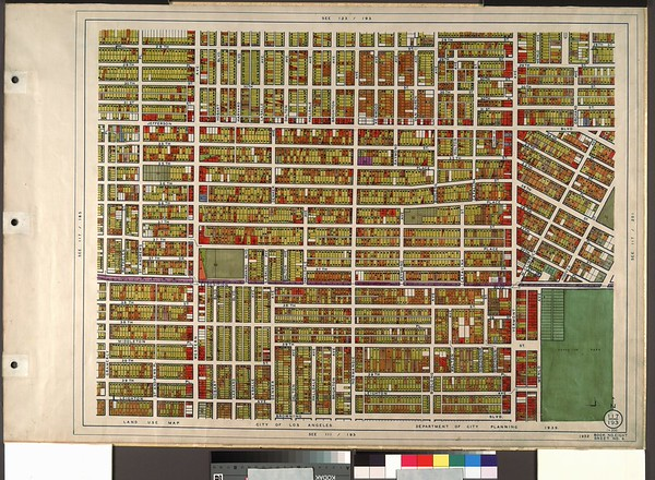 WPA Land use survey map for the City of Los Angeles, book 8 (Downtown Los Angeles and Hyde Park to Watts District), sheet 3