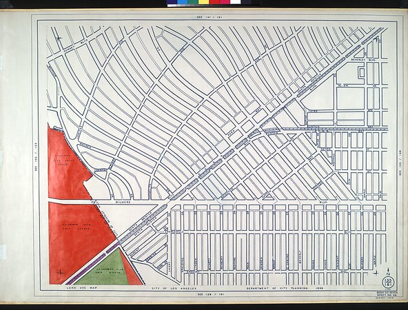 WPA Land use survey map for the City of Los Angeles, book 7 (Topanga Canyon to Hollywood District), sheet 26
