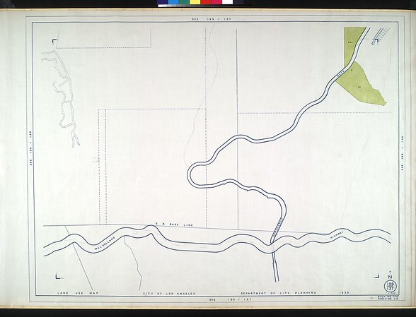 WPA Land use survey map for the City of Los Angeles, book 5 (Santa Monica Mountains from Girard to Van Nuys District), sheet 23