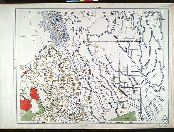 WPA Land use survey map for the City of Los Angeles, book 7 (Topanga Canyon to Hollywood District), sheet 16