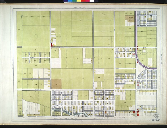 WPA Land use survey map for the City of Los Angeles, book 5 (Santa Monica Mountains from Girard to Van Nuys District), sheet 8