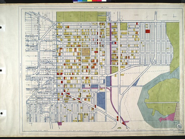 WPA Land use survey map for the City of Los Angeles, book 10 (Shoestring Addition to San Pedro District), sheet 14