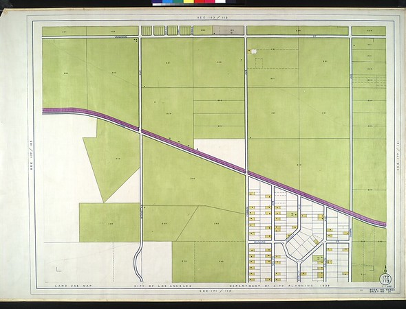 WPA Land use survey map for the City of Los Angeles, book 3 (San Fernando Valley from Canoga Park District to Van Nuys District), sheet 31