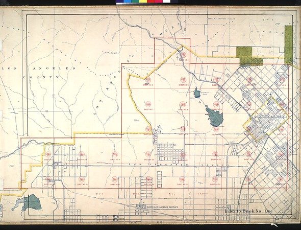 WPA Land use survey map for the City of Los Angeles, book 1 (North Los Angeles District), sheet 10