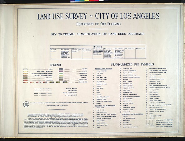 WPA Land use survey map for the City of Los Angeles, book 7 (Topanga Canyon to Hollywood District), sheet 7