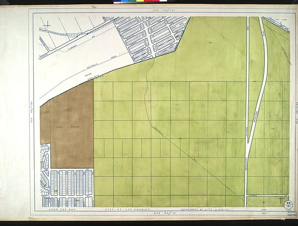 WPA Land use survey map for the City of Los Angeles, book 9 (Pacific Palisades Area to Mines Field (Municipal Airport)), sheet 26