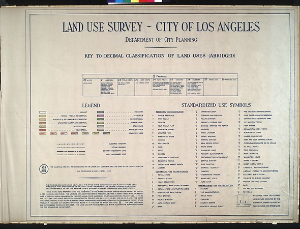 WPA Land use survey map for the City of Los Angeles, book 2 (Tujunga), sheet 1