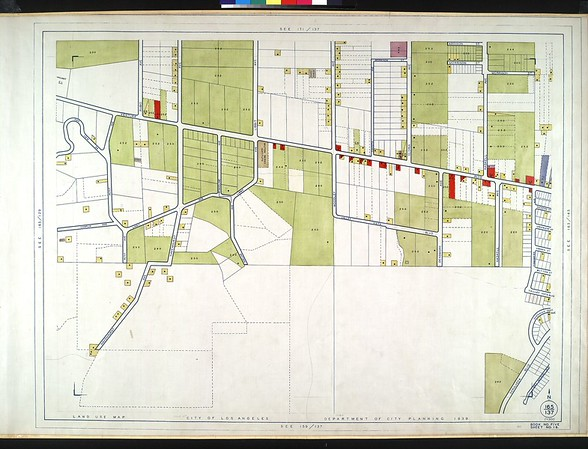WPA Land use survey map for the City of Los Angeles, book 5 (Santa Monica Mountains from Girard to Van Nuys District), sheet 16