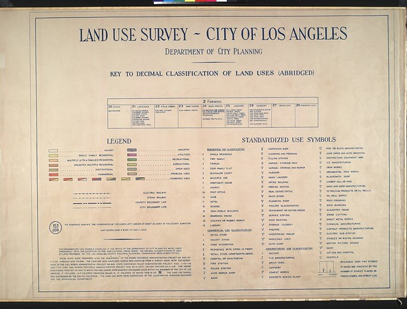 WPA Land use survey map for the City of Los Angeles, book 9 (Pacific Palisades Area to Mines Field (Municipal Airport)), sheet 19