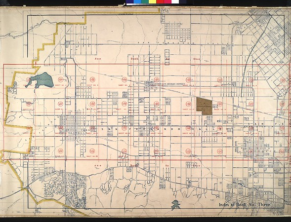 WPA Land use survey map for the City of Los Angeles, book 3 (San Fernando Valley from Canoga Park District to Van Nuys District), sheet 1
