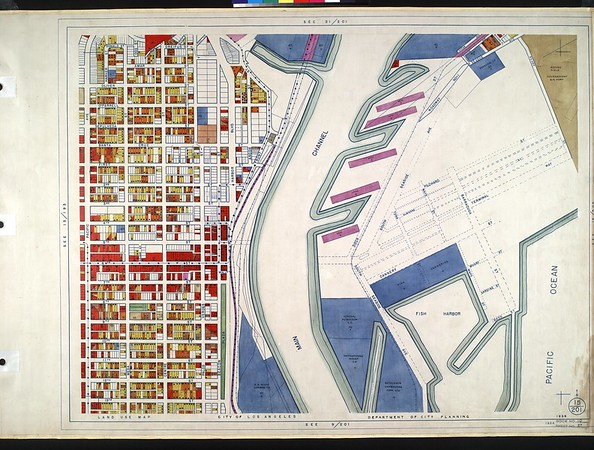 WPA Land use survey map for the City of Los Angeles, book 10 (Shoestring Addition to San Pedro District), sheet 27