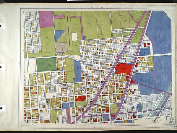 WPA Land use survey map for the City of Los Angeles, book 10 (Shoestring Addition to San Pedro District), sheet 16