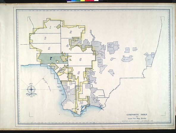 WPA Land use survey map for the City of Los Angeles, book 7 (Topanga Canyon to Hollywood District), sheet 21