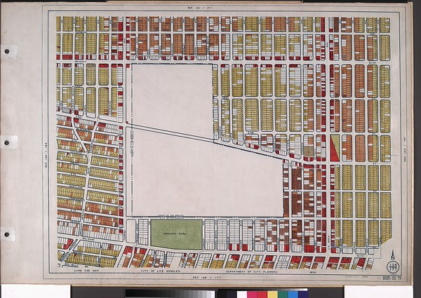 WPA Land use survey map for the City of Los Angeles, book 6 (Hollywood District to Boyle Heights District), sheet 17