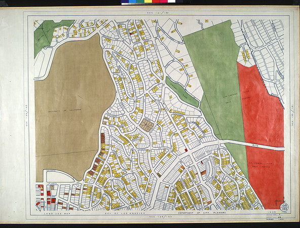 WPA Land use survey map for the City of Los Angeles, book 7 (Topanga Canyon to Hollywood District), sheet 25