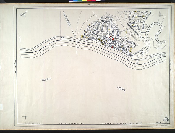 WPA Land use survey map for the City of Los Angeles, book 9 (Pacific Palisades Area to Mines Field (Municipal Airport)), sheet 1