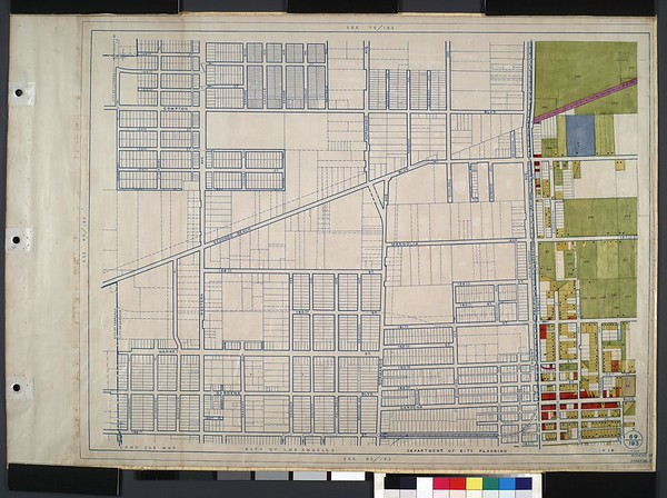 WPA Land use survey map for the City of Los Angeles, book 10 (Shoestring Addition to San Pedro District), sheet 1