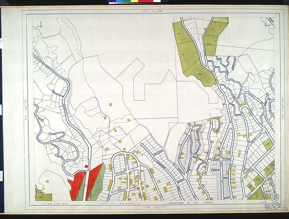 WPA Land use survey map for the City of Los Angeles, book 7 (Topanga Canyon to Hollywood District), sheet 23