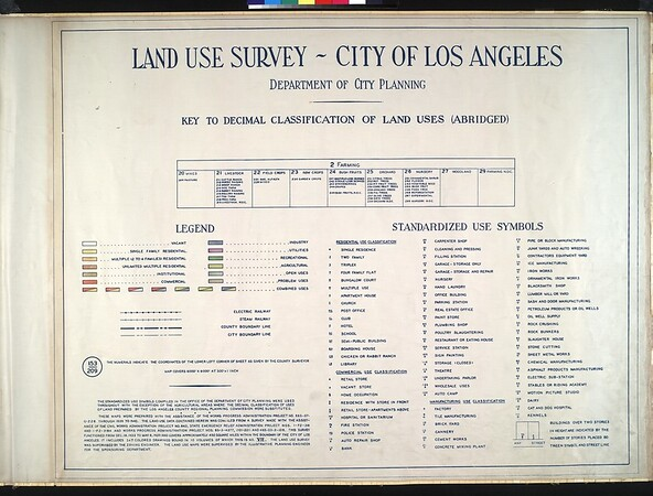 WPA Land use survey map for the City of Los Angeles, book 7 (Topanga Canyon to Hollywood District), sheet 4