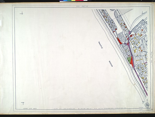 WPA Land use survey map for the City of Los Angeles, book 9 (Pacific Palisades Area to Mines Field (Municipal Airport)), sheet 28