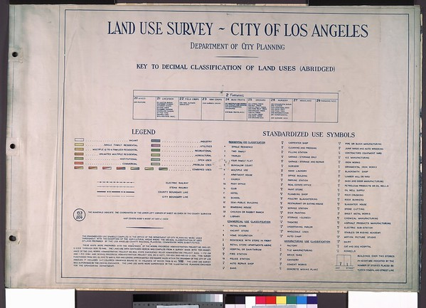 WPA Land use survey map for the City of Los Angeles, book 8 (Downtown Los Angeles and Hyde Park to Watts District), sheet 29