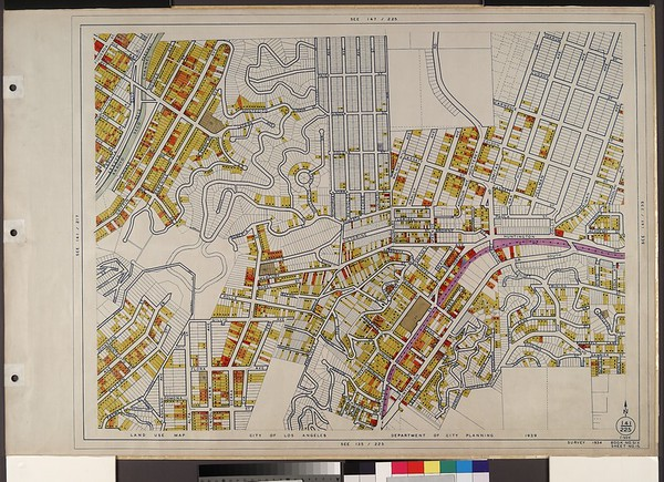WPA Land use survey map for the City of Los Angeles, book 6 (Hollywood District to Boyle Heights District), sheet 15