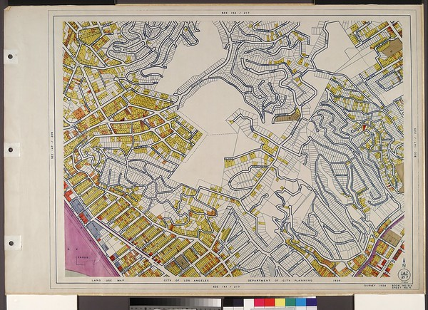 WPA Land use survey map for the City of Los Angeles, book 6 (Hollywood District to Boyle Heights District), sheet 6