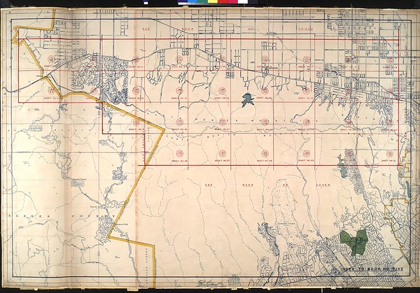 WPA Land use survey map for the City of Los Angeles, book 5 (Santa Monica Mountains from Girard to Van Nuys District), sheet 10