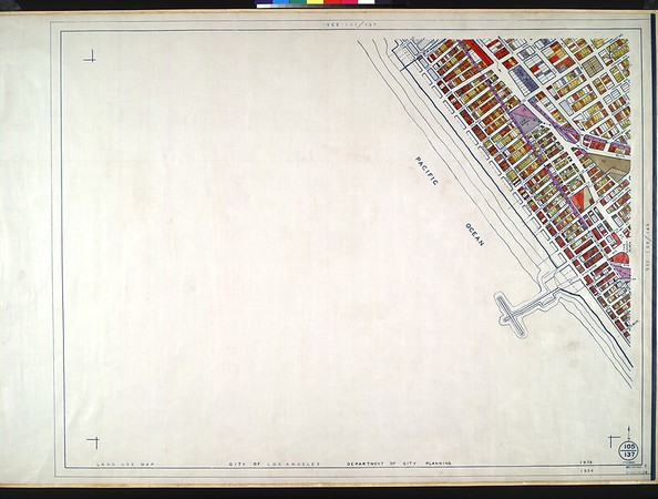 WPA Land use survey map for the City of Los Angeles, book 9 (Pacific Palisades Area to Mines Field (Municipal Airport)), sheet 18
