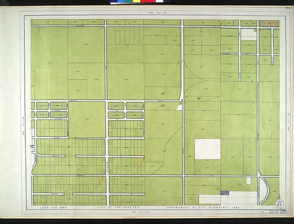 WPA Land use survey map for the City of Los Angeles, book 3 (San Fernando Valley from Canoga Park District to Van Nuys District), sheet 29
