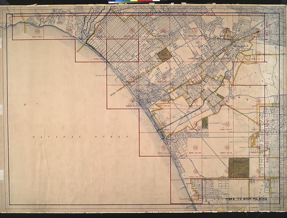 WPA Land use survey map for the City of Los Angeles, book 9 (Pacific Palisades Area to Mines Field (Municipal Airport)), sheet 6