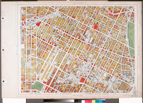 WPA Land use survey map for the City of Los Angeles, book 6 (Hollywood District to Boyle Heights District), sheet 20
