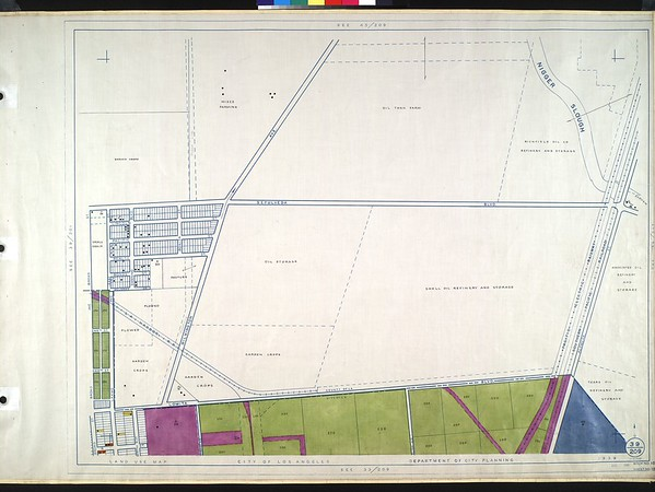 WPA Land use survey map for the City of Los Angeles, book 10 (Shoestring Addition to San Pedro District), sheet 13