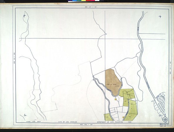 WPA Land use survey map for the City of Los Angeles, book 7 (Topanga Canyon to Hollywood District), sheet 14