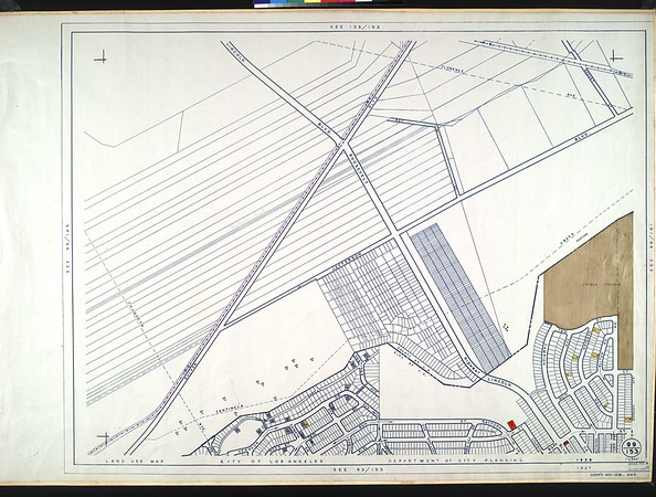 WPA Land use survey map for the City of Los Angeles, book 9 (Pacific Palisades Area to Mines Field (Municipal Airport)), sheet 25