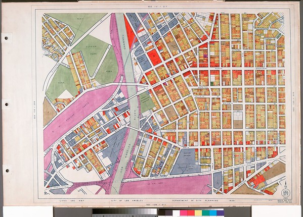WPA Land use survey map for the City of Los Angeles, book 6 (Hollywood District to Boyle Heights District), sheet 22