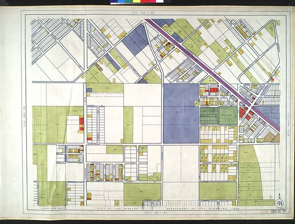 WPA Land use survey map for the City of Los Angeles, book 2 (Tujunga), sheet 27