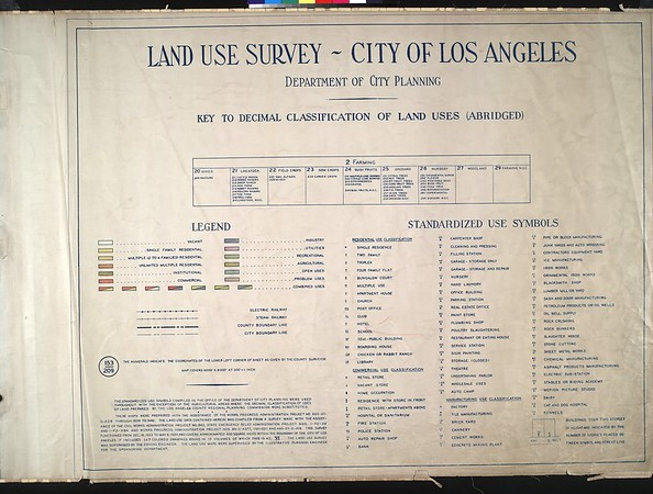 WPA Land use survey map for the City of Los Angeles, book 6 (Hollywood District to Boyle Heights District), sheet 7
