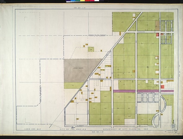 WPA Land use survey map for the City of Los Angeles, book 1 (North Los Angeles District), sheet 25